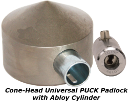 Cone-Head Universal PUCK Padlock (w/Abloy)