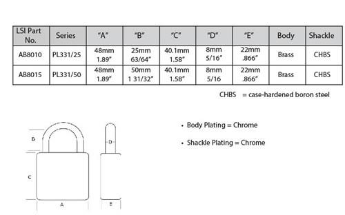 Abloy 331 Spec Sheet