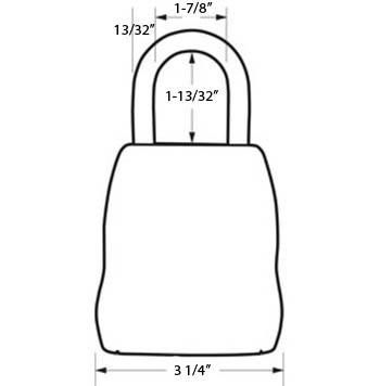 Dimensions for the Master Lock 5400D